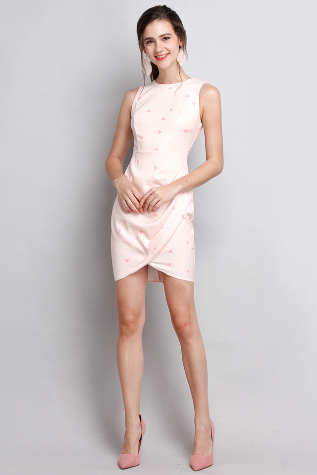Principles Of Geometry Dress In Pink Prints