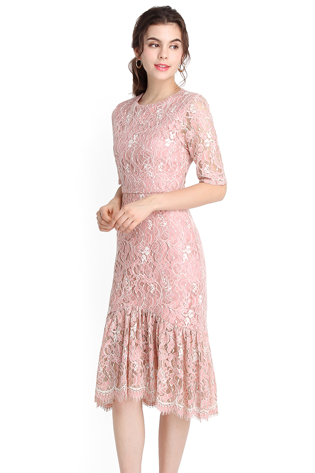 Golden Era Dress In Dusty Pink