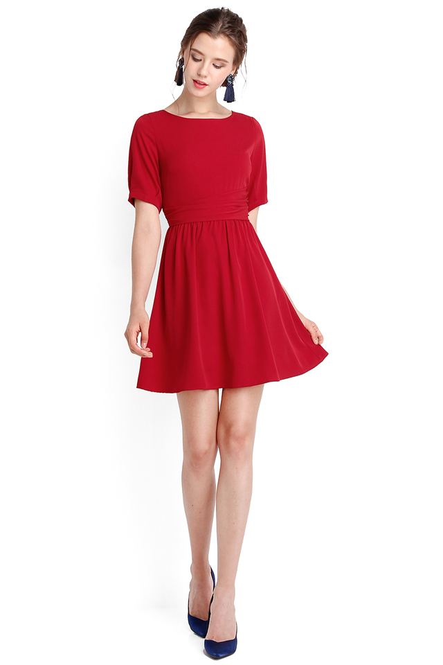 Amazing Grace Dress In Festive Red