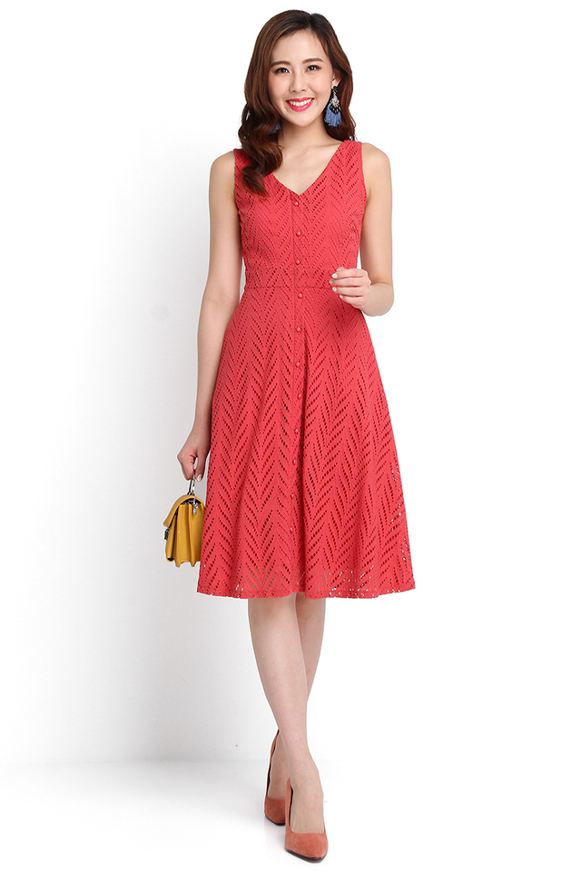 Eat Pray Love Dress In Tea Rose