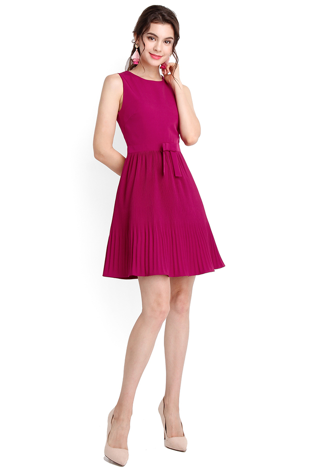 Spring Splendour Dress In Magenta
