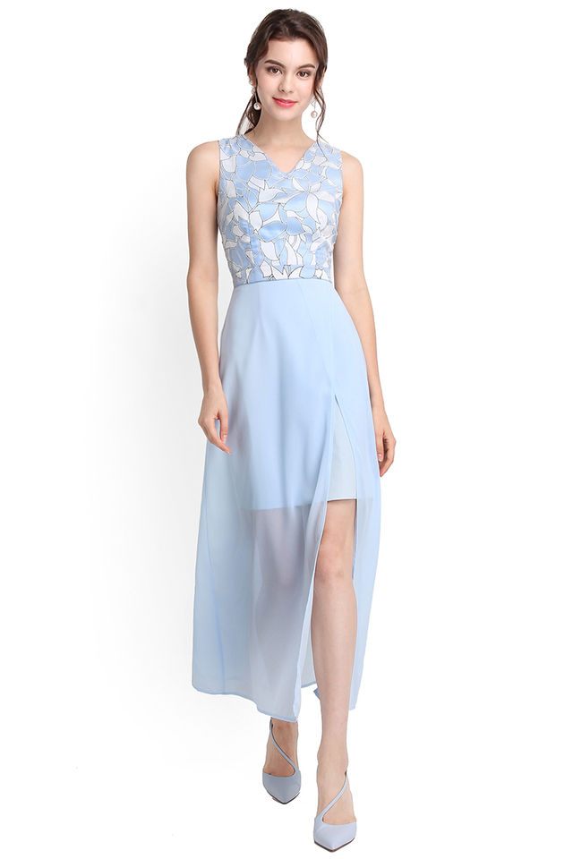 Walkway To Heaven Dress In Sky Blue