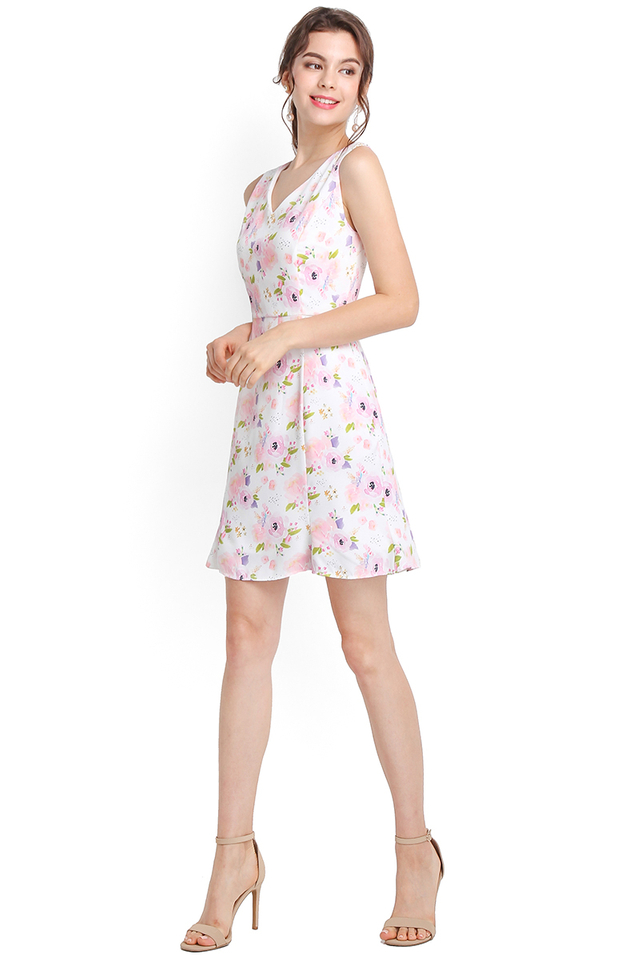 All In Bloom Dress In Pink Florals