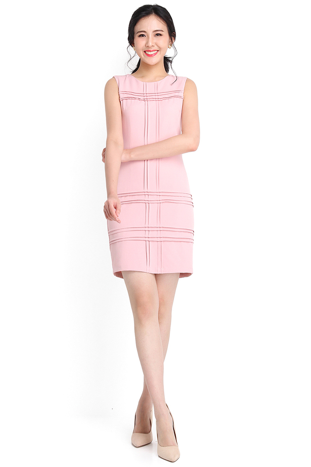 Crossing Paths Dress In Dusty Pink