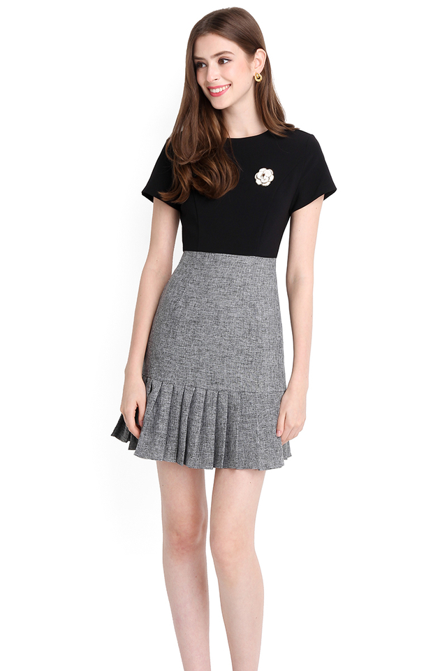 Fated To Love You Dress In Black Grey