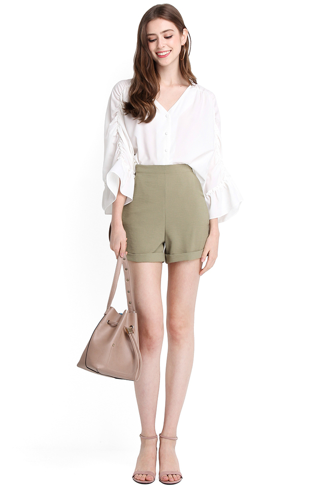 Sophia Shorts In Sage Green