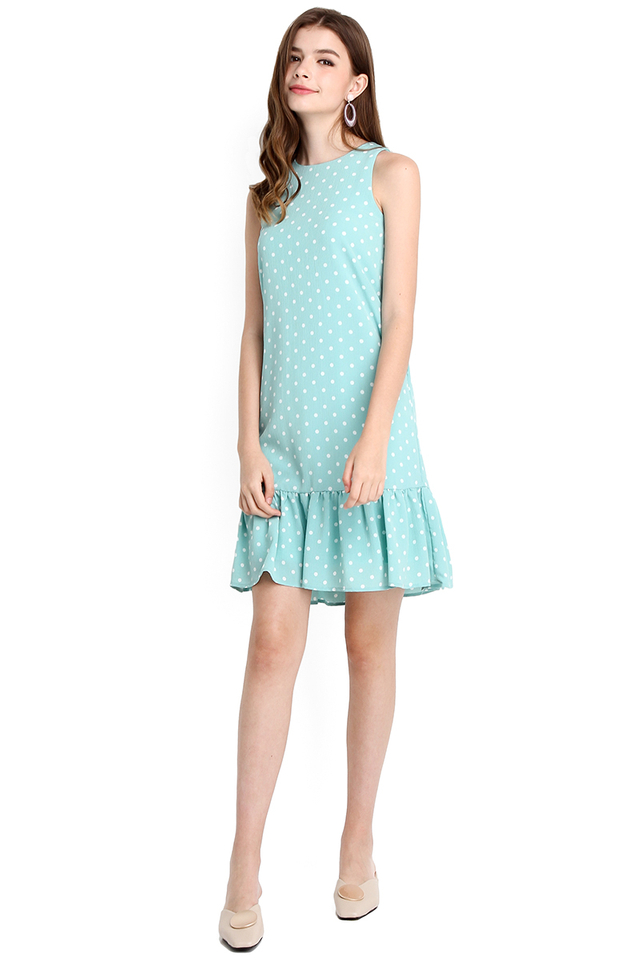 Life In Colour Dress In Jade Dots