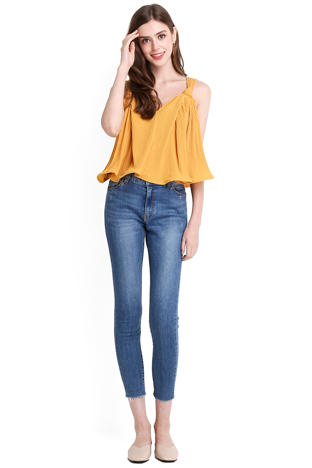Sun-kissed Top In Mustard Yellow