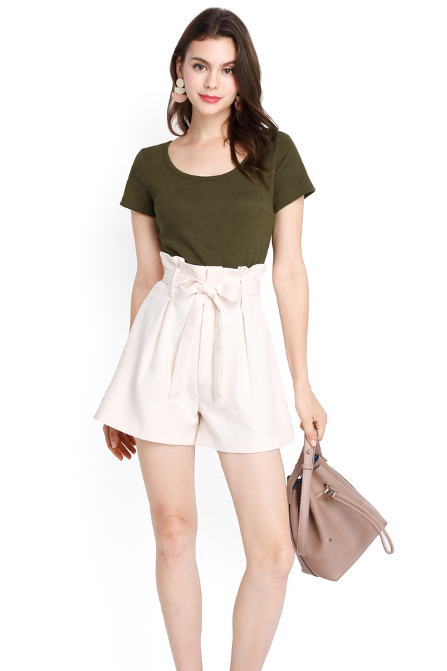 Blake Top In Olive Green