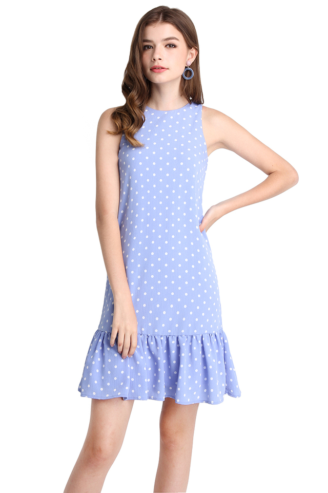 Life In Colour Dress In Periwinkle Dots