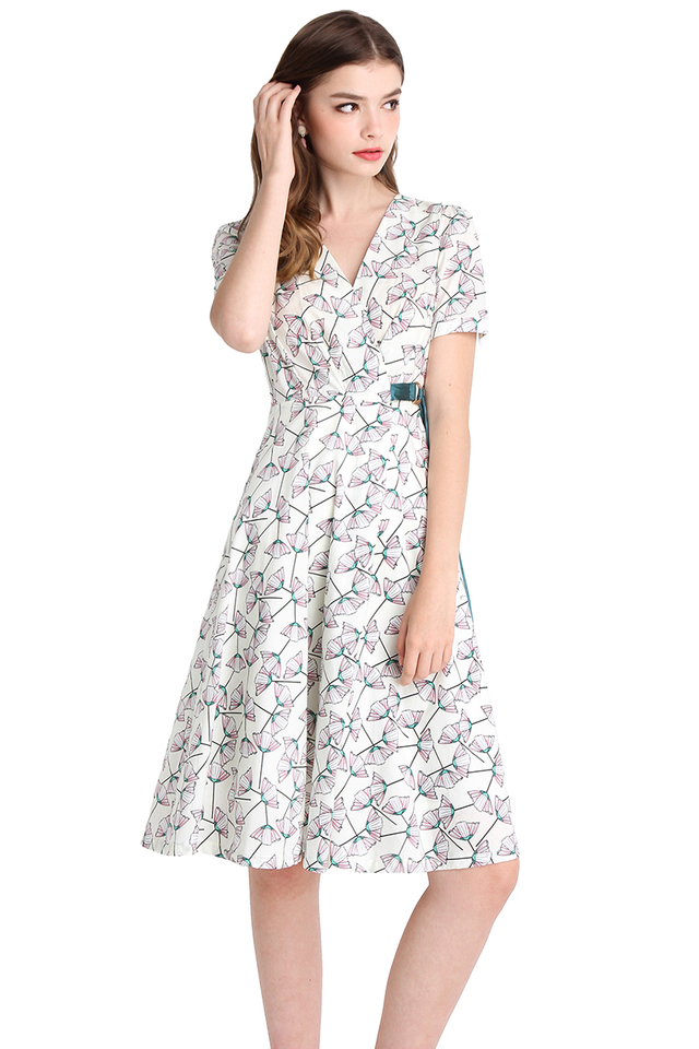 Totally Charming Dress In Pink Florals