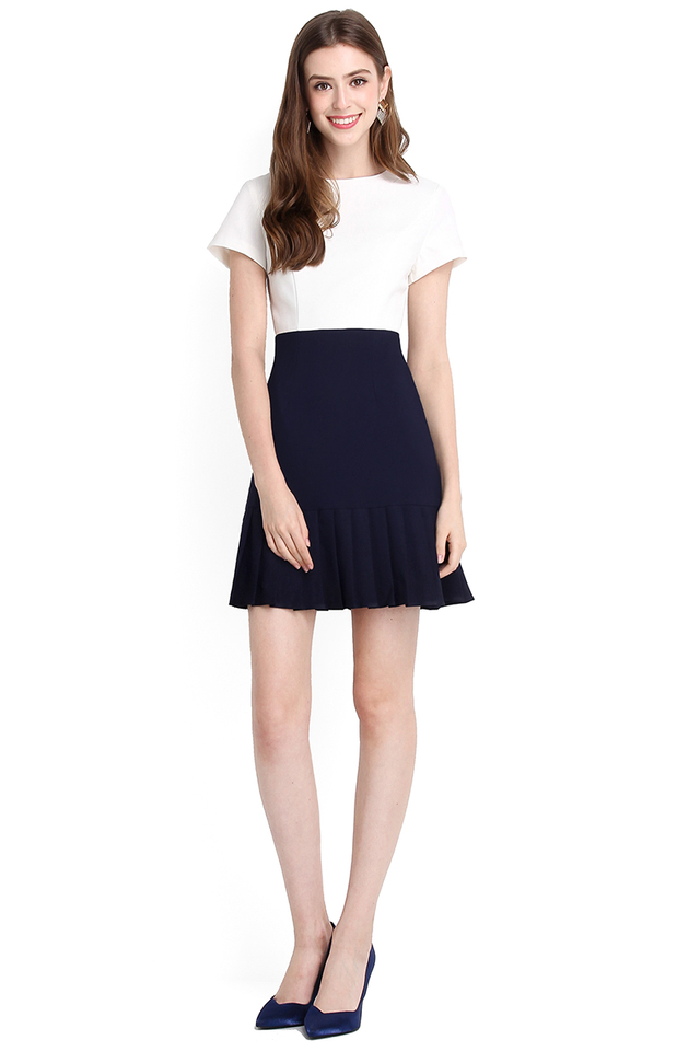 Fated To Love You Dress In White Blue