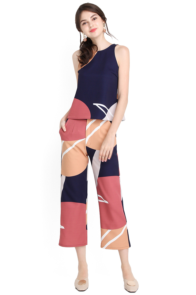 Dash Of Personality Pants In Abstract Prints