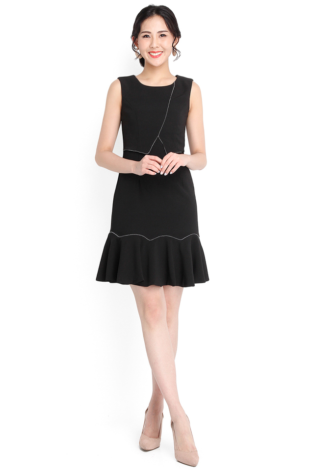 Divine Flair Dress In Classic Black
