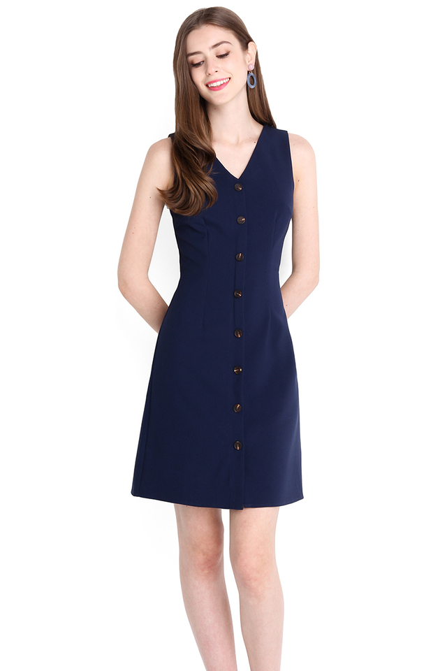 Enchanted By You Dress In Navy Blue