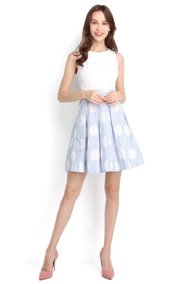 Beverly Hills Dress In Sky Stripes