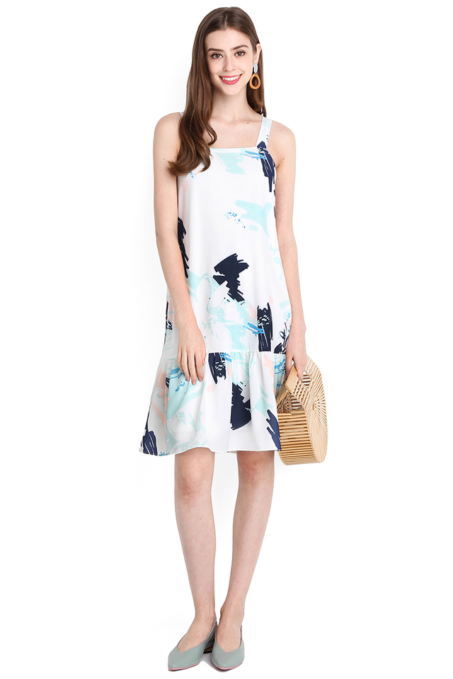 Unicorn Moment Dress In Blue Prints