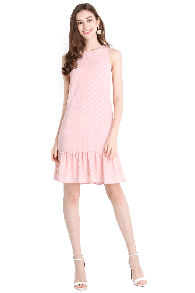 Life In Colour Dress In Pink Dots