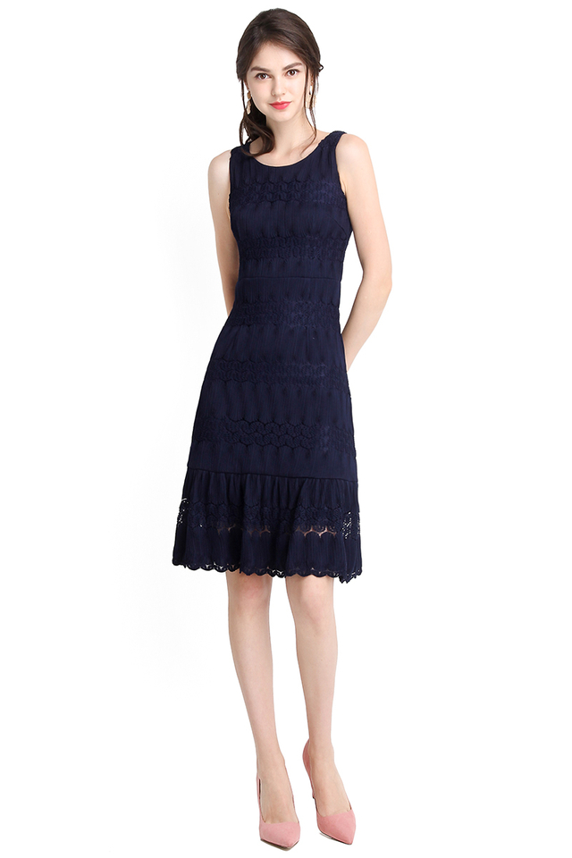 Letters Of Love Dress In Midnight Blue