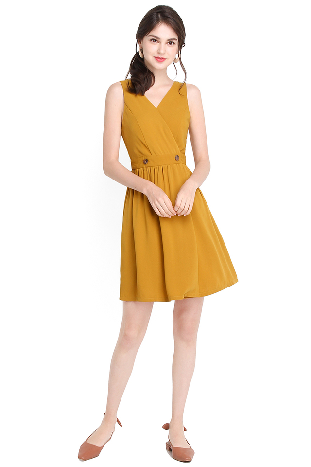 Palm Cove Dress In Honey Mustard