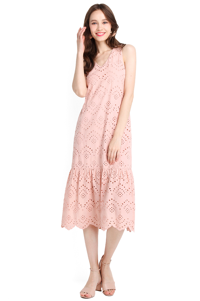 Spring Flight Dress In Dusty Pink