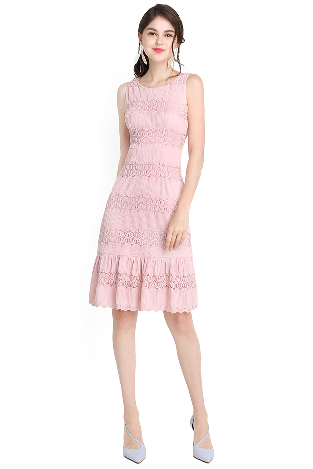 Letters Of Love Dress In Dusty Pink