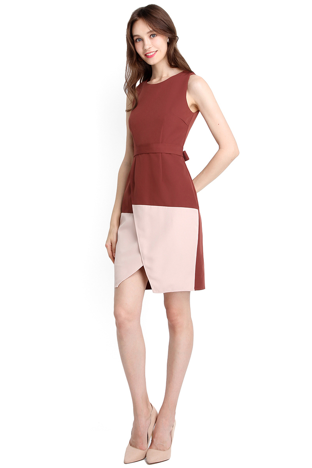 Hint Of Classiness Dress In Tea Rose