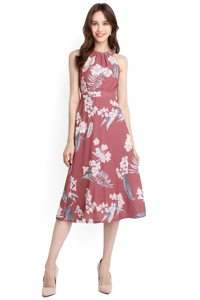 Timeless Beauty Dress In Pink Florals