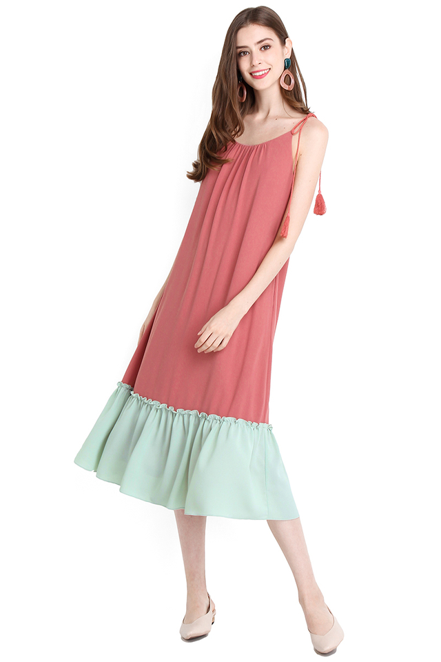Wearable Sunshine Dress In Watermelon