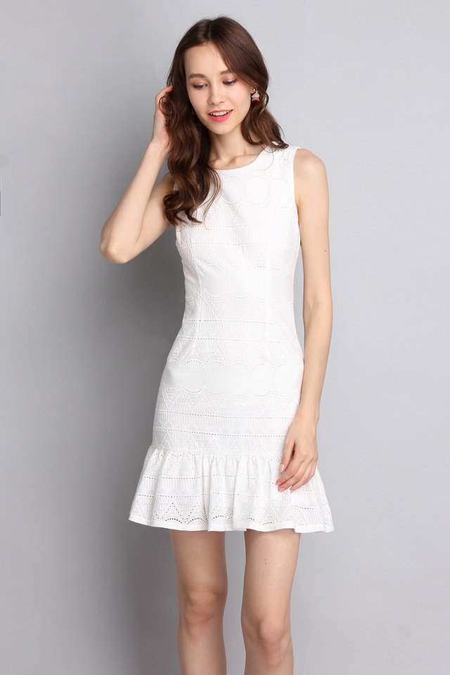 Dearly Loved Dress In Classic White