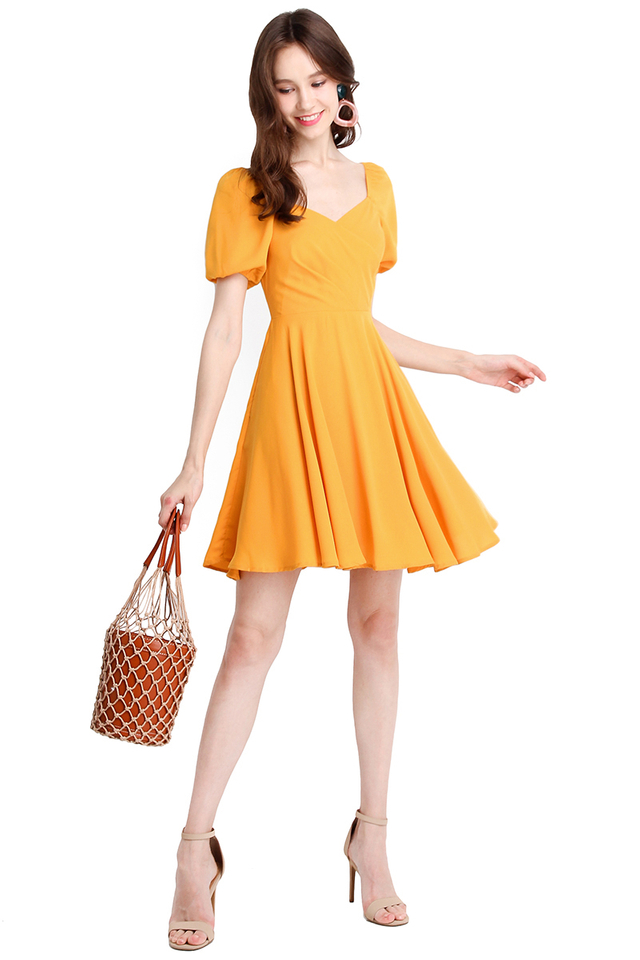 Betty Boop Dress In Sunshine Yellow