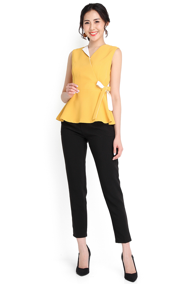 Piece Of Sunshine Top In Mustard Yellow
