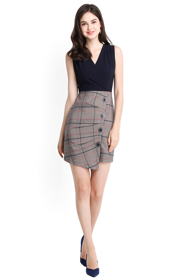 Trailblazer Dress In Blue Checks