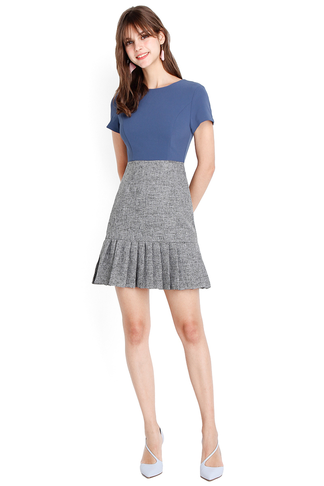 Fated To Love You Dress In Blue Grey