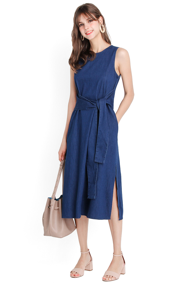 Charismatic Soul Dress In Dark Wash