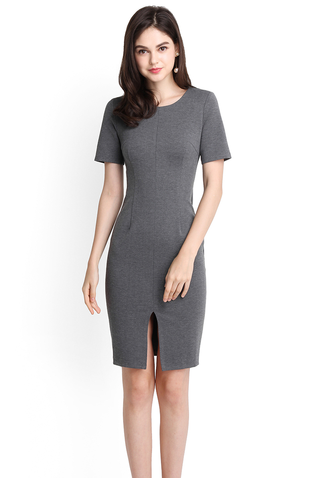 Classic For A Reason Dress In Heather Grey
