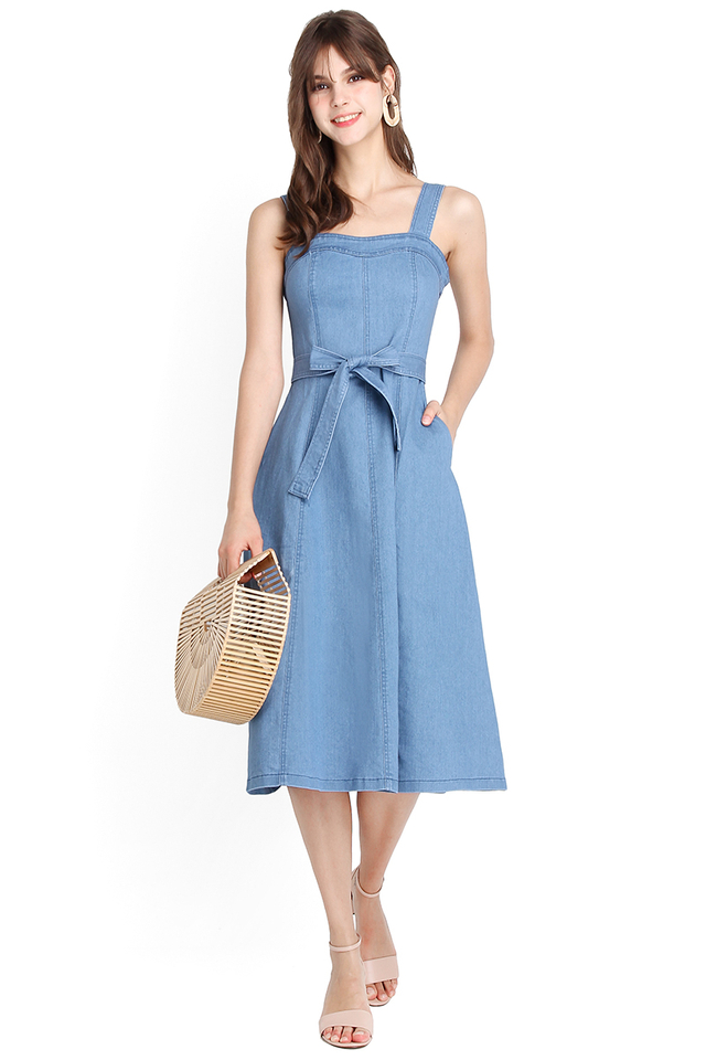 Sunrise Boulevard Dress In Light Denim
