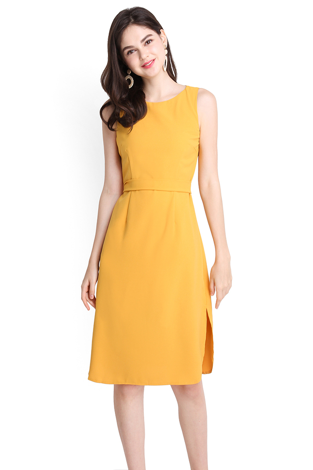 Cityscape Dress In Sunshine Yellow