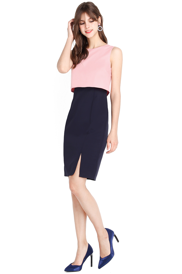 Savoir Faire Dress In Pink Blue