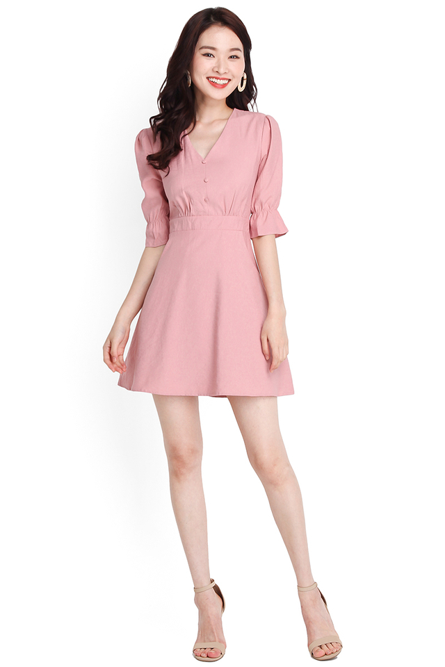 Just My Type Dress In Dusty Pink