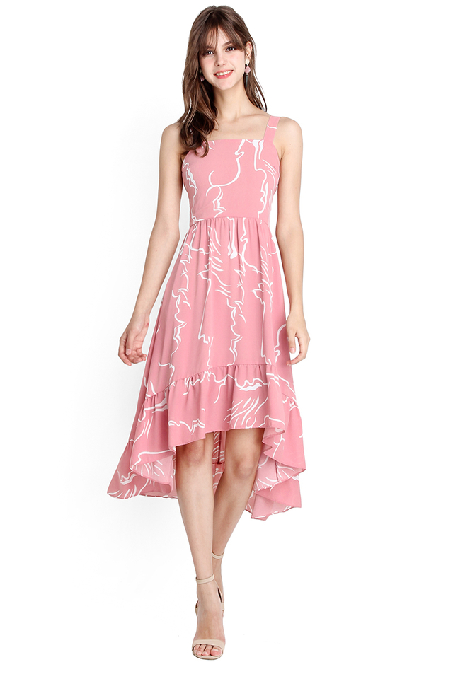 Dance To The Tune Dress In Pink Prints