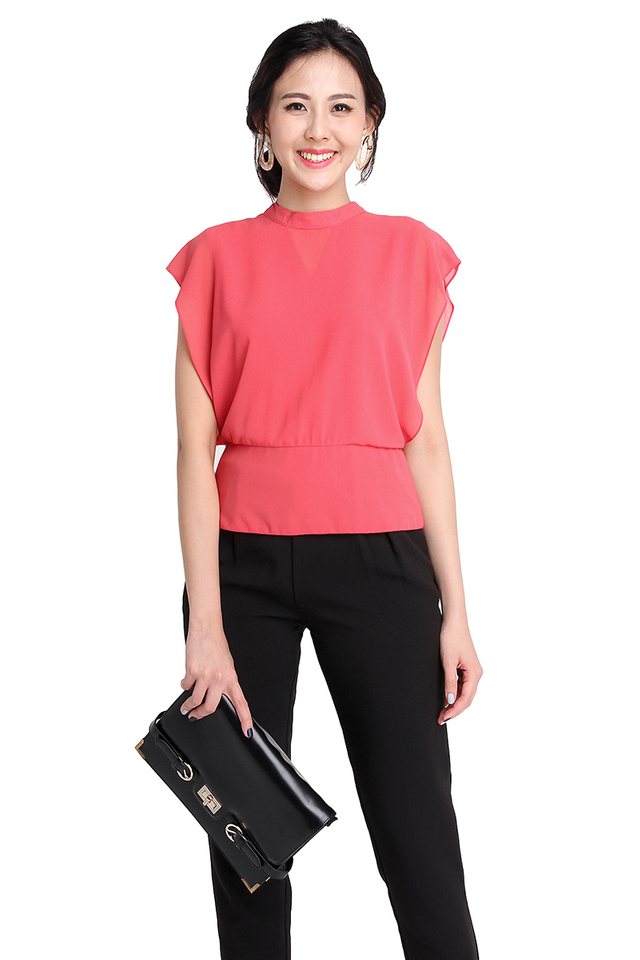 Luxurious Understatement Top In Rose Pink