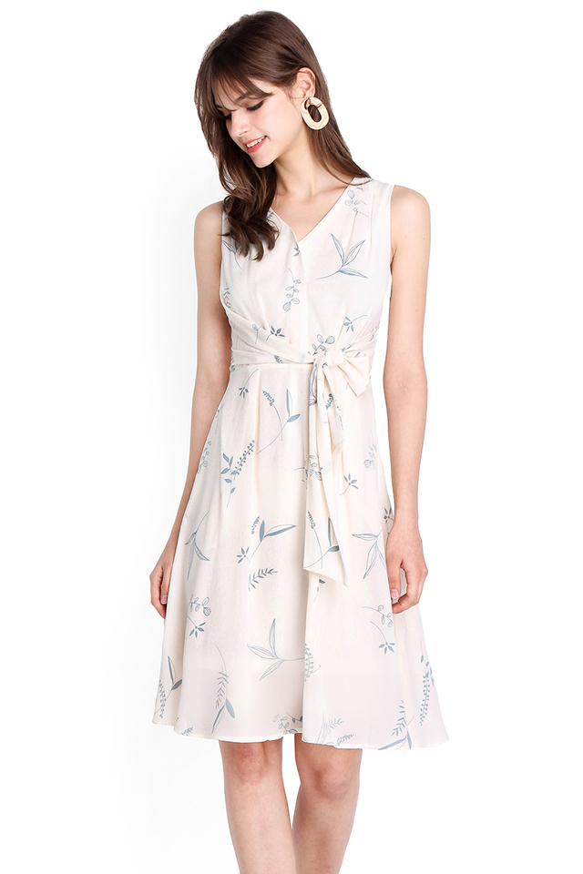 Sweetness Of Spring Dress In Sky Prints