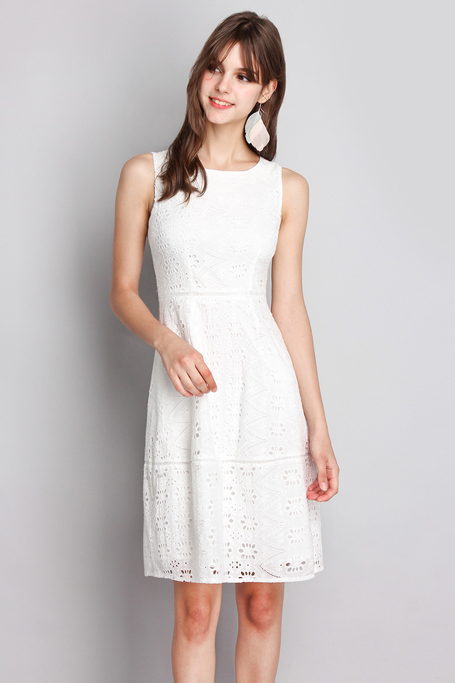 Dainty Dreams Dress In Classic White