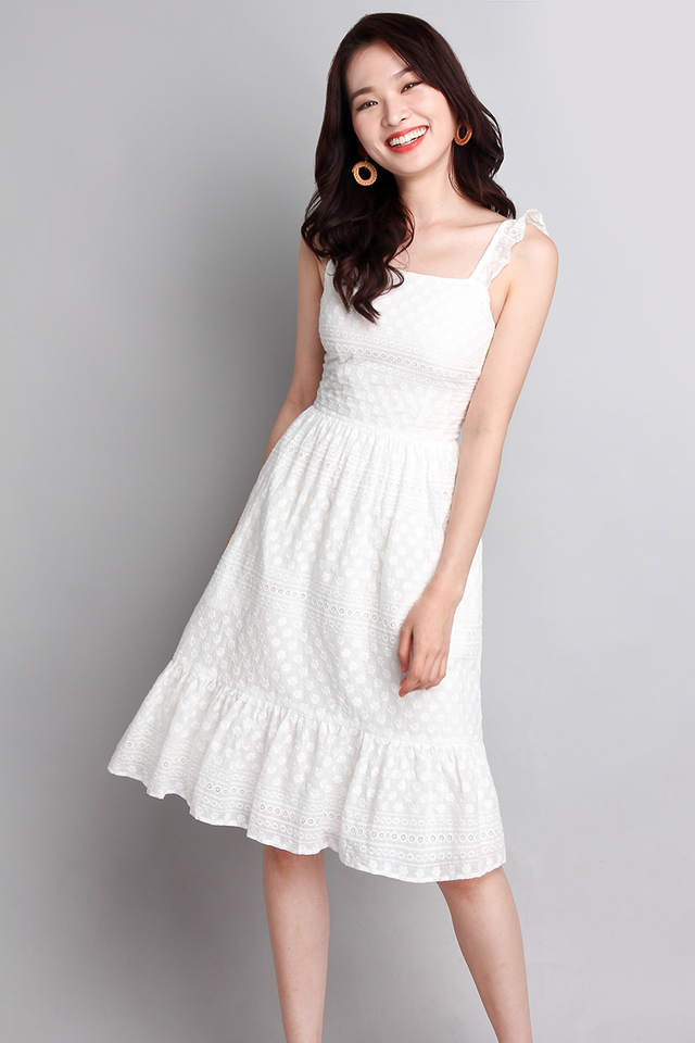 Summer Favourite Dress In Classic White
