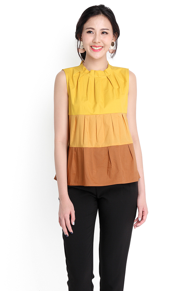 Season In The Sun Top In Mustard Yellow