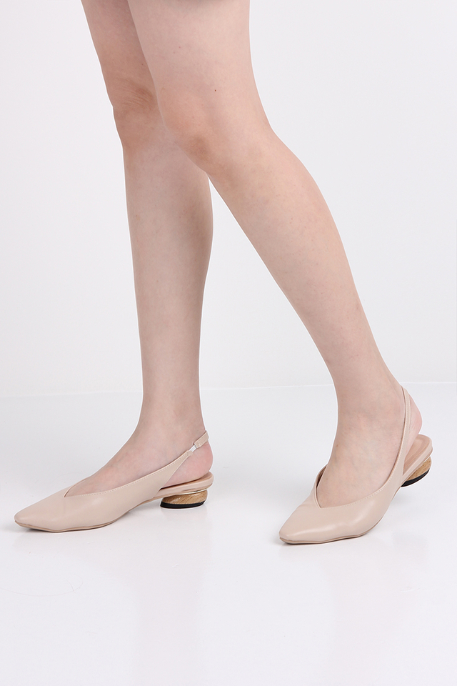 Caroline Sling Backs In Nude
