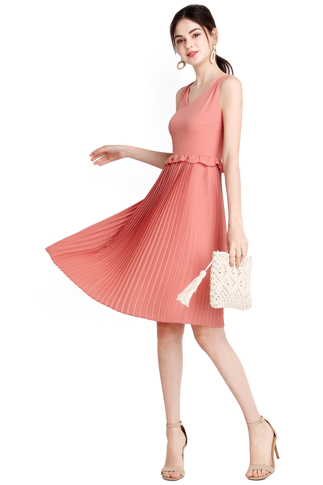 Vision Of Bliss Dress In Apricot