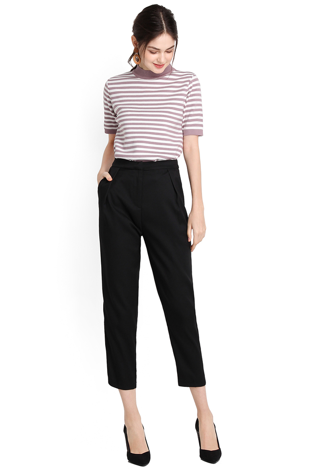 Fit Just Right Pants In Classic Black