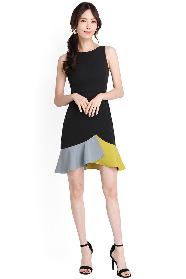 Hues Of Camaraderie Dress In Classic Black